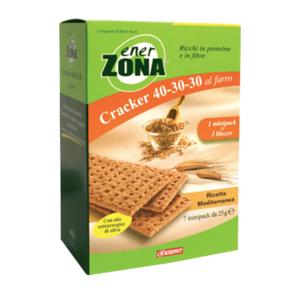 enerzona cracker 40-30-30 al farro - ricetta rosmarino 7 minipack 25g cad