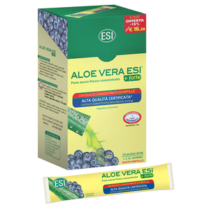 aloe vera esi + forte succo con mirtillo 24 pocket drink