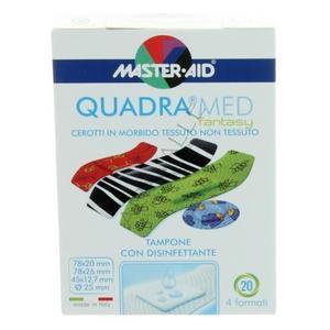 Master Aid Quadra Med Fantasy  Cerotti in tessuto non tessuto- 20pz in formati vari