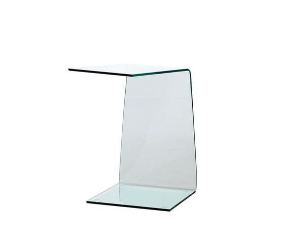 tavolino da divano in vetro curvato, Qriosa Shop, modello XENO