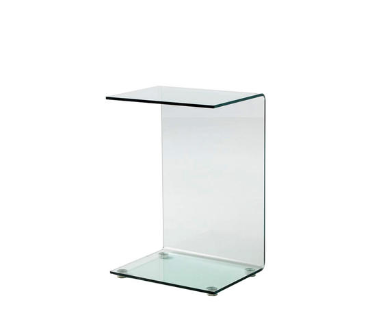 tavolino da divano in vetro curvato, di Qriosa Shop, modello Service