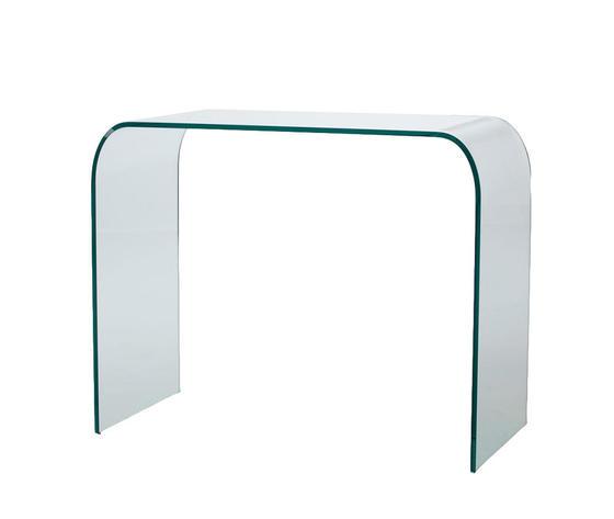 consolle in vetro curvato, modello LEGEND, di Qrisoa Shop