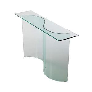consolle da ingresso in vetro curvato, modello ESSE, di Qriosa Shop