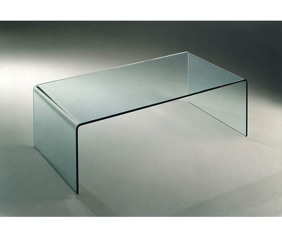 Tavolino Ponte Vetro.Tavolino Ponte In Vetro Curvato