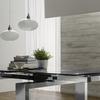 Glass metallo2 t 1160 tavolo allungabile
