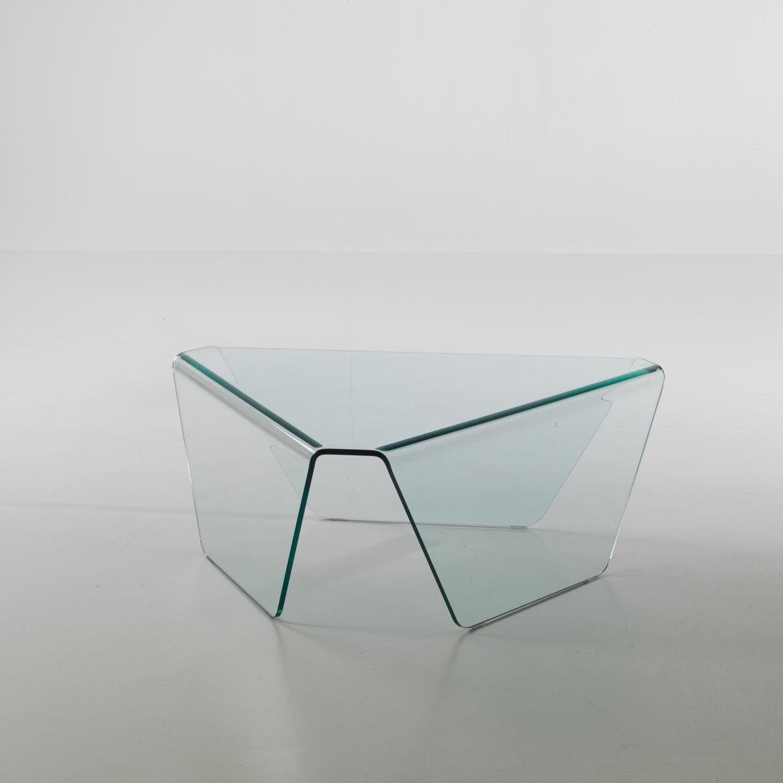 tavolino Tris in vetro curvato - QRIOSA STILE ITALIANO