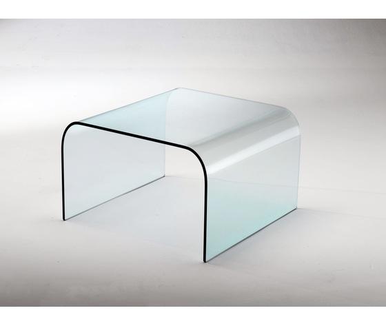 tavolino Arco in vetro curvato