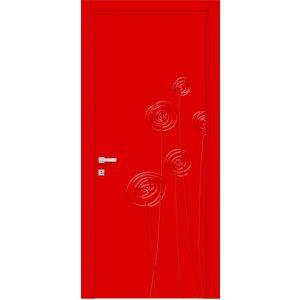 Porta Interna Soffi rosso
