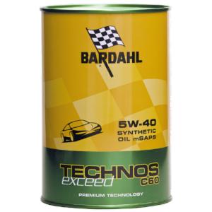 Bardahl 5w40 technos c60 exceed