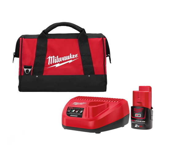 KIT BATTERIA 2.0 Ah LITIO+CARICABATTERIA MILWAUKEE