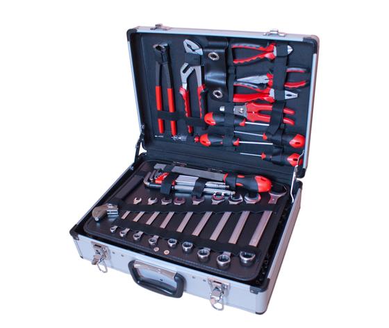Valigia in alluminio con 128 utensili