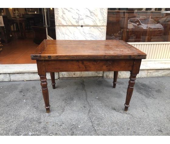 Elegante Tavolo a Libro in Noce Piemontese - Restaurato (in corso d'opera)
