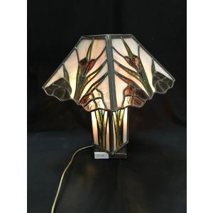 Prestigiosa Lampada da Tavolo in Vetro Cattedrale