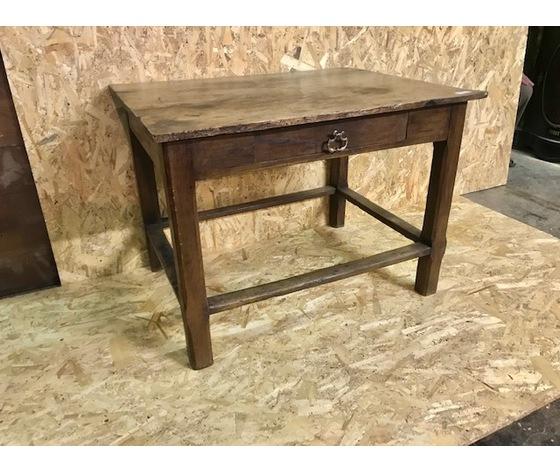 Tavolino da Lavoro o Ciabattino in Larice - Restaurato (in corso d'opera)