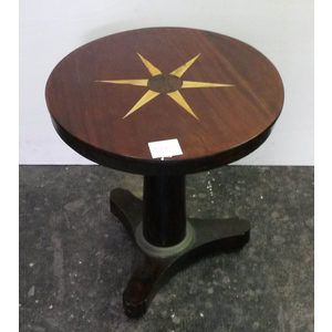Tavolino Rotondo in Stile Impero