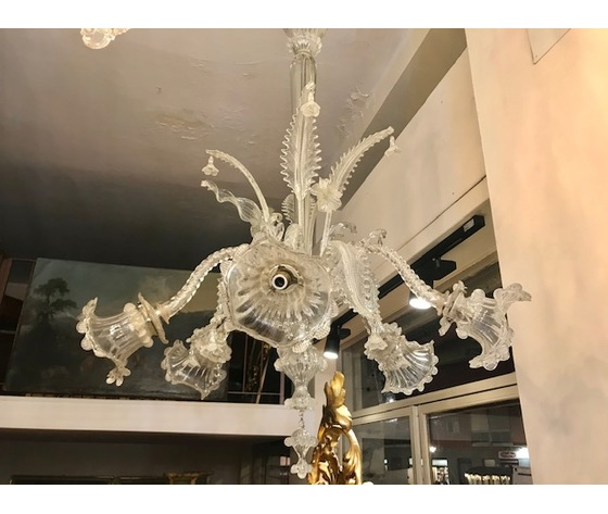 Elegante Lampadario in Vetro di Murano a 6 Luci