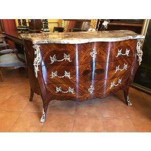 Importante Cassettone Luigi XV a Quadrifoglio Genovese - Restaurato