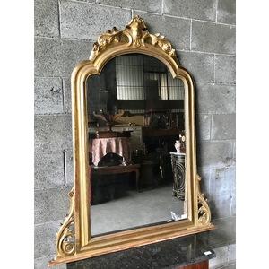 Specchiera con Cimasa in Legno e Pastiglia Dorata - Restaurata (in corso d'opera)