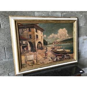 "Dipinto ad Olio su Tela ""Scorcio Marino"""