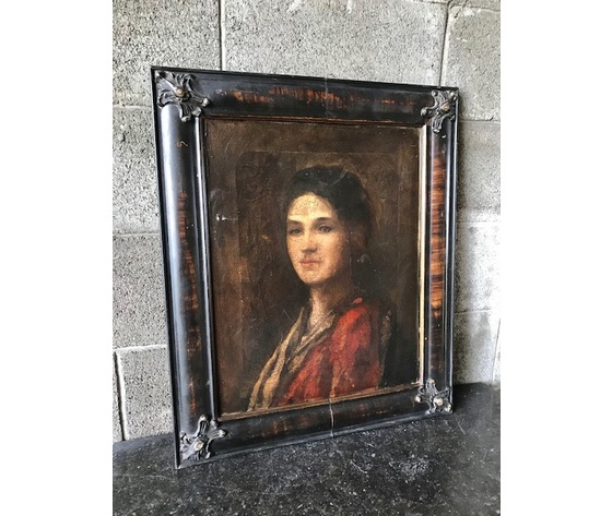 """Dipinto Olio su Tela """"Ritratto di Donna"""""""