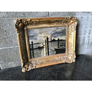 "Dipinto ad Olio su Tavola ""Laguna di Venezia"""