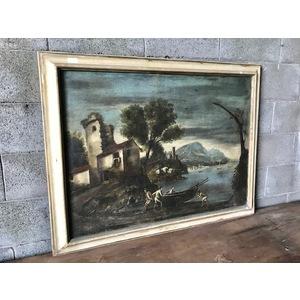 "Dipinto ad Olio su Tela ""Paesaggio Marino"""