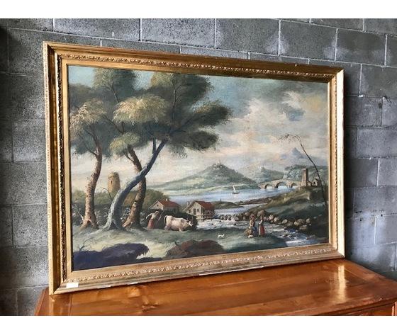 "Dipinto ad Olio su Tela ""Paesaggio"""
