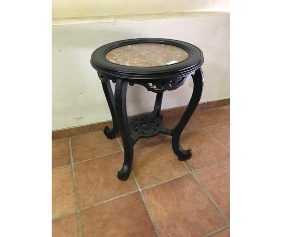 Tavolino Rotondo di Gusto Orientale - Restaurato (in corso d'opera)