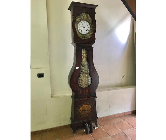 Orologio a Pendolo Morbier in legno dipinto