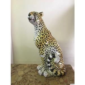 Figura di Leopardo in Ceramica