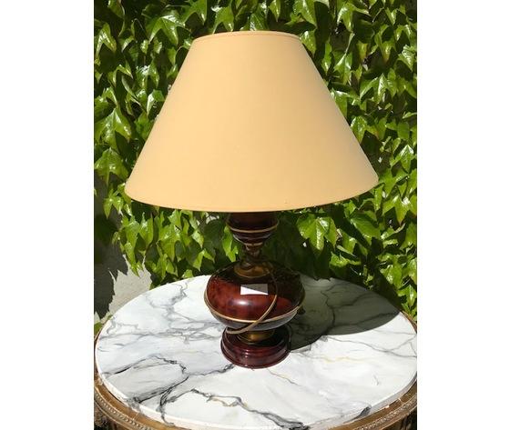 Lampada in Ceramica Bordeaux