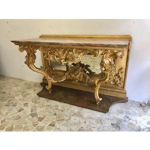 Importante Consolle Luigi XIV in Legno Intagliato - Restaurata (in corso d'opera)
