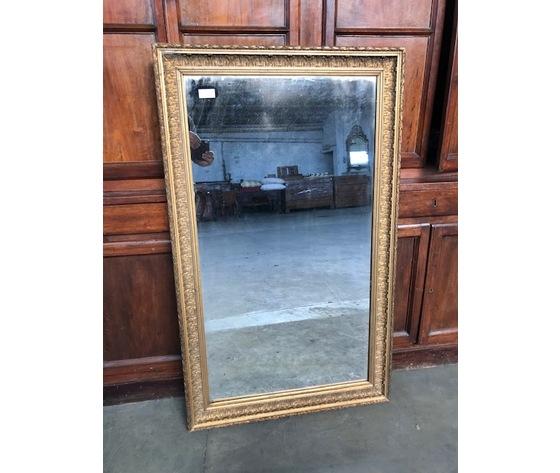 Specchiera in legno e pastiglia dorata, specchio originale- Restaurata (in corso d'opera)