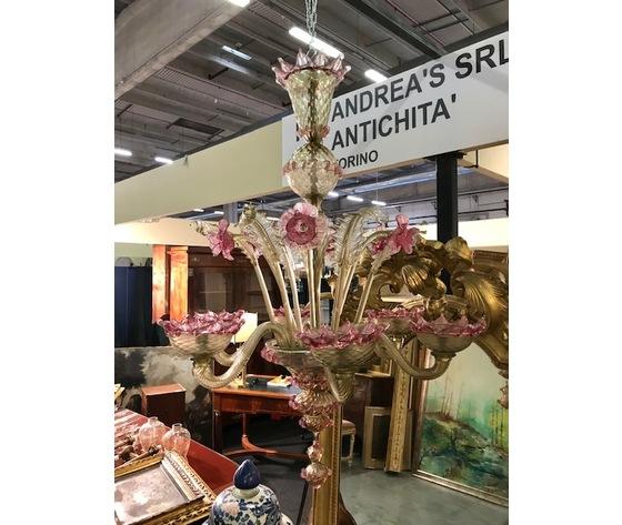 Prezioso lampadario di Murano in vetro soffiato - Ricondizionato (in corso d'opera)
