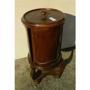 Antico Tavolino a Cilindro Carlo X in Mogano - Restaurato