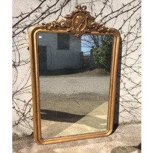 Elegante specchiera con cimasa dorata a foglia  Specchio originale  Epoca Luigi Filippo - Restaurata (in corso d'opera)