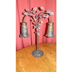 Lampada Liberty in bronzo