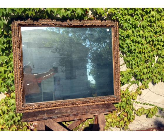 Specchiera in Legno Scolpito Dorata a Missione - Restaurata (in corso d'opera)