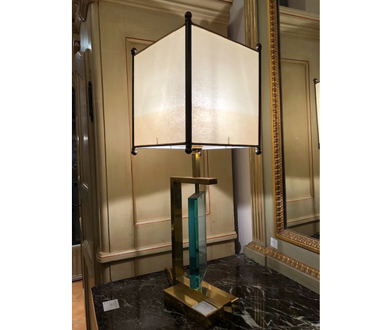 Elegante Lampada Anni '70 da Tavolo Designe/Pergamena - Ricondizionata