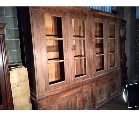 Antica ed Importante Libreria Direttorio in Noce - Restaurata (in corso d'opera)