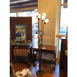 Elegante Lampada Liberty a Piantana con 5 Tulipe - Ricondizionata