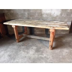 Tavolo Rustico da Taverna in Legno di Larice