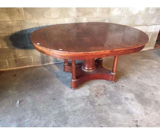 Elegante Tavolo Ovale Impero Allungabile - Restaurato (in corso d'opera)