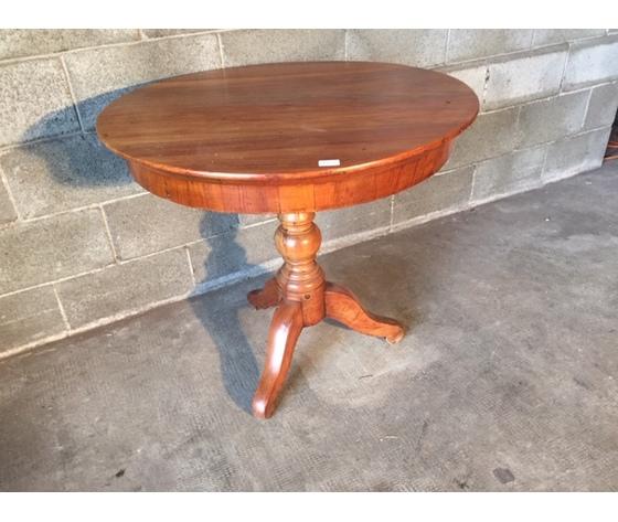 Elegante Tavolino Rotondo da Salotto - Restaurato (in corso d'opera)