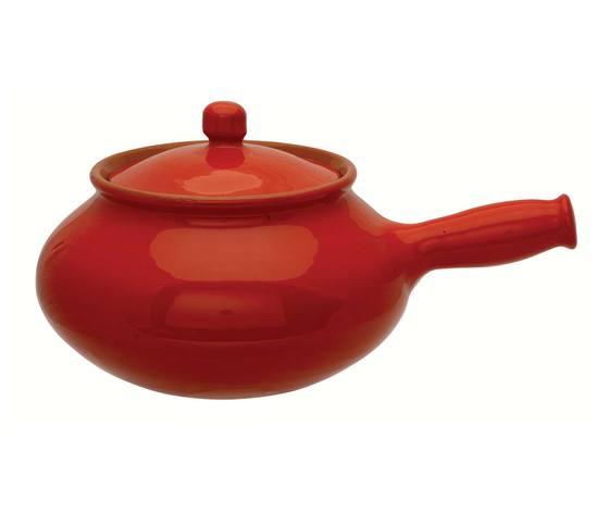 Cuocipatate linea Rossella, in terracotta color rosso, cuoce senza condimenti aggiunti.