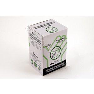 Guanti ai Copolimeri monouso sterili su carta,  ambidestri.  Mis. Medium - 100 pz.