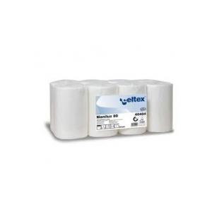 Salviettine in rotolo,  pura cellulosa, 2 veli 60 mt - Conf. 10 rotoli – 240 strappi