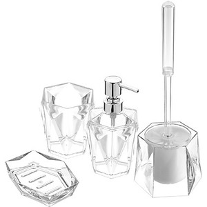 Set accessori bagno in ABS - Diamante