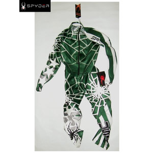 tuta spyder usa verde con imbottitura