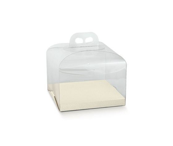 Porta panettone trasparente